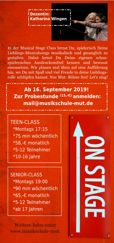 Flyer StageClass Rückseite